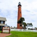 Faro de la entrada de Ponce, la Florida Imagen de archivo libre de regalías