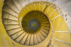 Faro de la escalera espiral Foto de archivo libre de regalías