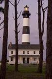 Faro de la isla de Bodie en la oscuridad Foto de archivo libre de regalías