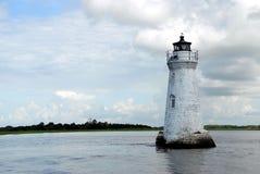 Faro de la isla del espolón de gallo Fotografía de archivo