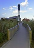 Faro de la isla del fuego, Long Island, Nueva York Fotografía de archivo libre de regalías