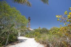 Faro de la isla de Sanibel Fotos de archivo libres de regalías