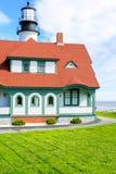 Faro de la linterna de Portland en Portland del sur Maine Foto de archivo libre de regalías