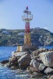 Faro de la luz del puerto del puerto Imagen de archivo