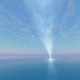 Faro de la luz del punto del punto al cielo stock de ilustración
