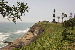 Faro de la Marina lighthouse in Miraflores in Lima Royalty Free Stock Photography