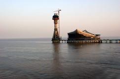 Faro de la playa Fotos de archivo