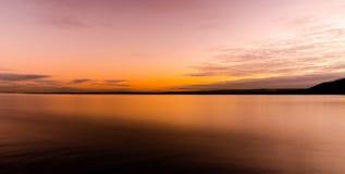 Faro de la puesta del sol Imágenes de archivo libres de regalías