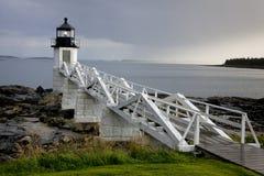 Faro de la punta de Marshall, Maine, los E.E.U.U. Imagen de archivo libre de regalías
