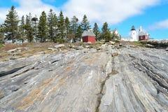 Faro de la punta de Pemaquid Fotografía de archivo libre de regalías