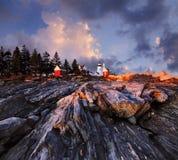 Faro de la punta de Pemaquid Fotos de archivo libres de regalías