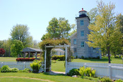 Faro de la punta de Sodus, lago Ontario Foto de archivo
