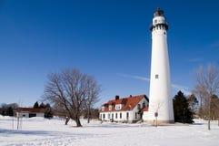Faro de la punta del viento Foto de archivo libre de regalías