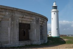 Faro de la punta de Hurst Foto de archivo libre de regalías