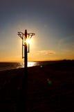Faro de la salida del sol Fotos de archivo libres de regalías