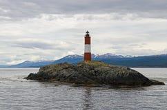 Faro de Les Eclaireurs, Ushuaia, Patagonia, la Argentina Foto de archivo libre de regalías