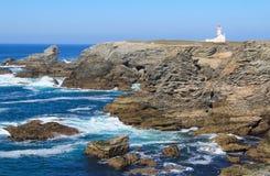 Faro de Les Poulains Imágenes de archivo libres de regalías