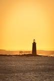 Faro de Maine en la salida del sol Foto de archivo