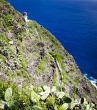 Faro de Makapuu, Oahu foto de archivo