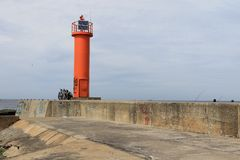 Faro de Mangalsalas, Riga Fotos de archivo libres de regalías