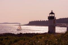 Faro de Marshall Point Fotografía de archivo