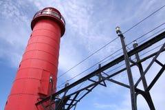 Faro de Michigan de lago Foto de archivo libre de regalías