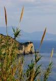 Faro de Miseno de la ceja, Miseno, Nápoles Fotos de archivo libres de regalías
