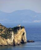 Faro de Miseno de la ceja, Nápoles Fotografía de archivo