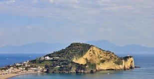 Faro de Miseno de la ceja, Nápoles Imágenes de archivo libres de regalías