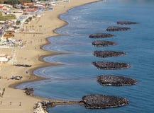 Faro de Miseno de la playa y de la ceja de Procida, Nápoles Imágenes de archivo libres de regalías
