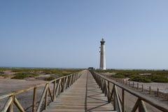 Faro De Morro Jable latarnia morska, Fuerteventura Zdjęcia Royalty Free