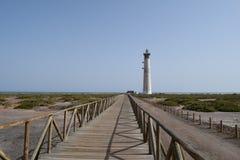 Faro De Morro Jable latarnia morska, Fuerteventura Zdjęcie Royalty Free