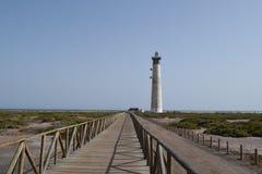 Faro De Morro Jable latarnia morska, Fuerteventura Zdjęcia Stock