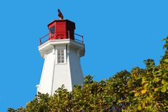Faro de Mulholland, Nuevo Brunswick, Canadá Foto de archivo