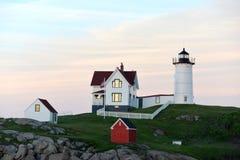 Faro de Nubel, Maine Imagenes de archivo