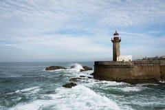 Faro de Oporto PÃ Imagen de archivo libre de regalías