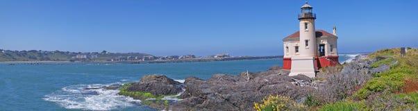Faro de Oregon - panorama Foto de archivo libre de regalías