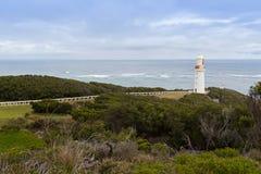 Faro de Otway del cabo en el gran camino en Victoria, Australia del océano fotos de archivo libres de regalías