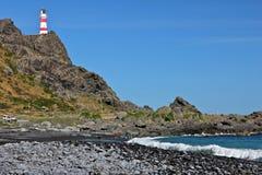 Faro de Palliser del cabo Fotografía de archivo libre de regalías