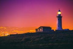 Faro de Paphos Imagen de archivo libre de regalías