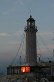 FARO DE PATRA, GRECIA Foto de archivo libre de regalías