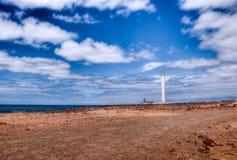 Faro de pechiguera playa blanca. Faro de pechiguera, lighthouse in playa blanca Stock Images
