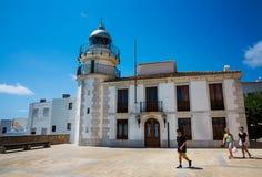 Faro de Peniscola, España Foto de archivo