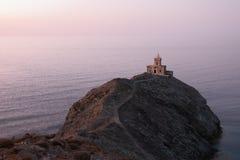 Faro de piedra Foto de archivo libre de regalías