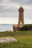 Faro de Ploumanach Fotos de archivo