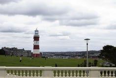 Faro de Plymouth, torre de Smeatons Imagen de archivo