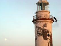 Faro de Polente en el canakkale del bozcaada imagen de archivo