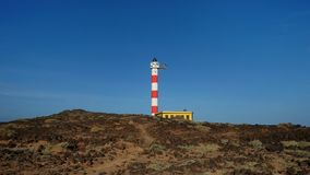 Faro De Poris, Punta de Abona, Poris de Abona, Tenerife, Ilhas Canárias, Espanha fotografia de stock