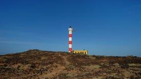 Faro De Poris, Punta De Abona, Poris De Abona, Tenerife, wyspy kanaryjskie, Hiszpania fotografia stock