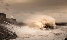 Faro de Porthcawl Imagenes de archivo